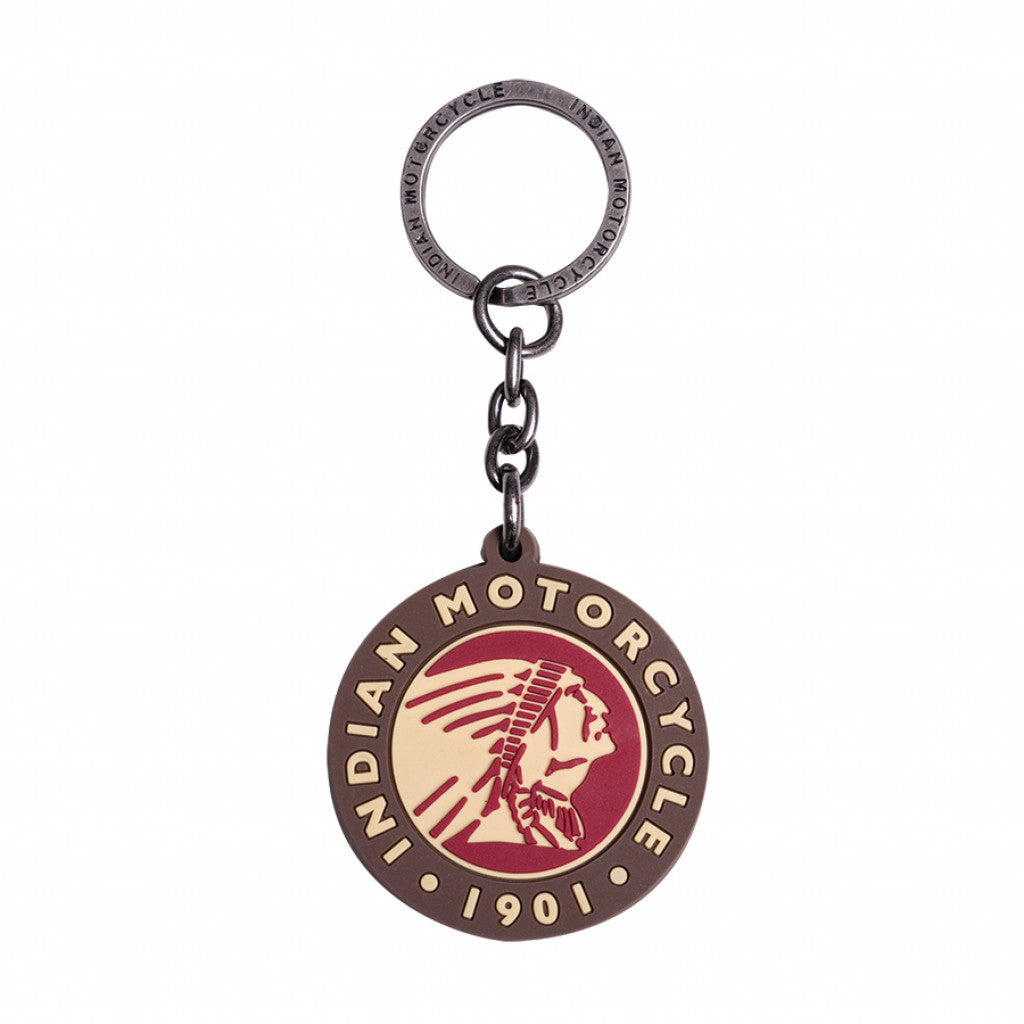Indian Circle Logo Rubber Keyring