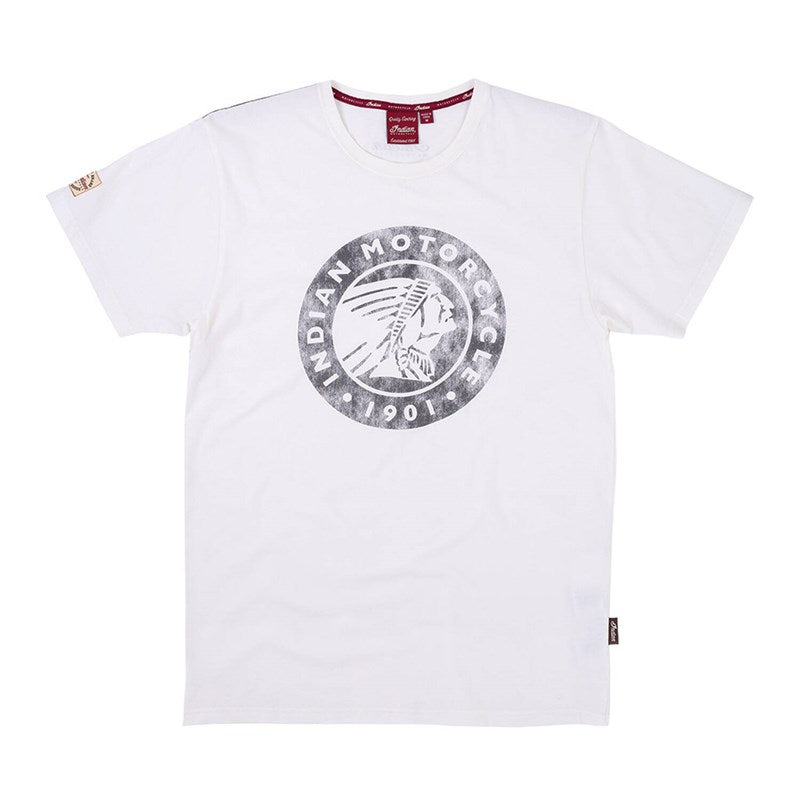 Indian Mens Icon Logo T-Shirt - White