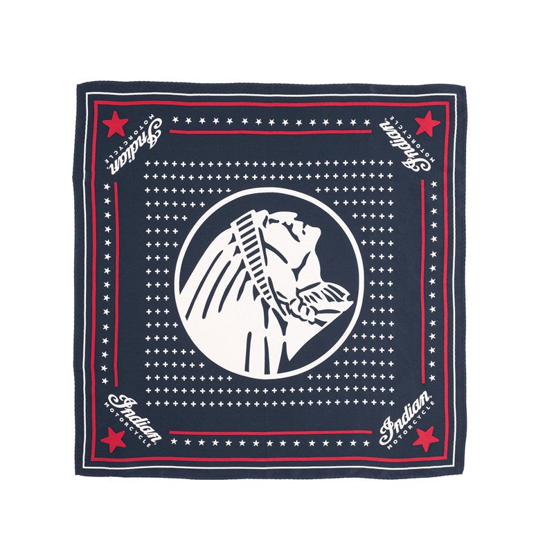 Indian Silk Bandana - Navy