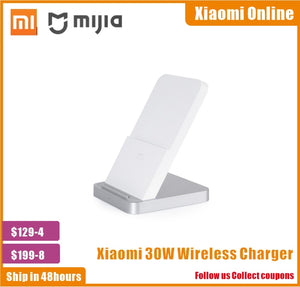 2020 New 100% Original Xiaomi Vertical Air-cooled Wireless Charger 30W Max with Flash Charging for Xiaomi Mi Smartphone