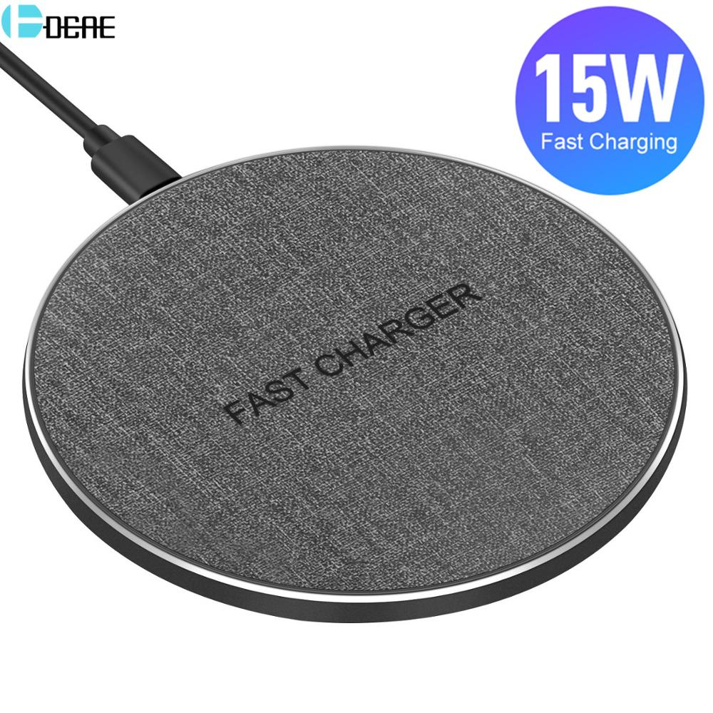 QI Wireless Charger USB Type C 15W Max for IPhone 11 XS XR X 8 Fast Charging For Samsung S20 S10 Xiaomi Mi 10 9 Huawei P30 Pro