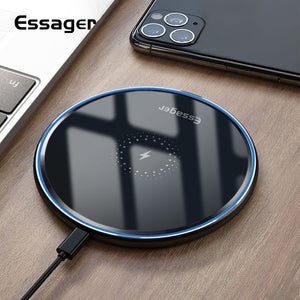 Essager Qi Wireless Charger Fast Wireless Charging Pad Induction Wirless Charger For iPhone 11 Pro X Xiaomi mi 10 Samsung s20