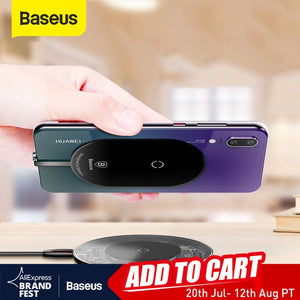 Baseus QI Wireless Charger Receiver For Huawei P20 Pro Samsung a5 7 Wireless Charging Receiver For Xiaomi Mi8 6 Redmi oneplus lg