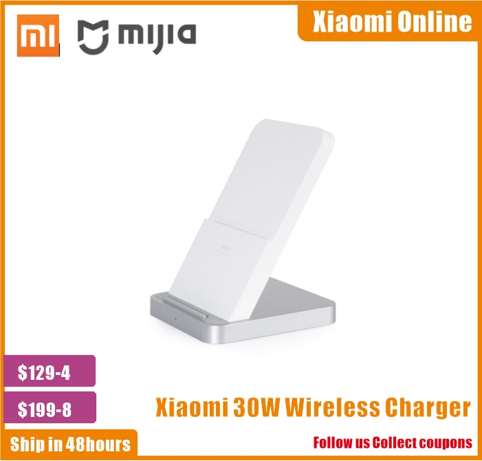 2020 Original Xiaomi Vertical Air-cooled Wireless Charger 30W Max with Flash Charging for Xiaomi Mi 9 10 Pro