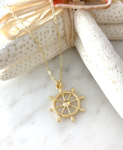 Nautical Wheel Necklace
