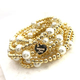 Classic Beaded Gold and Pearl bracelet