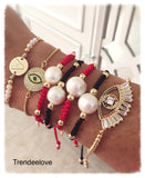Pearl Bracelet Red / Black