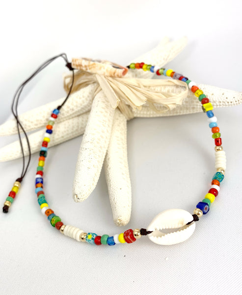 Choker Boho Multicolored - Natural Puka Shell