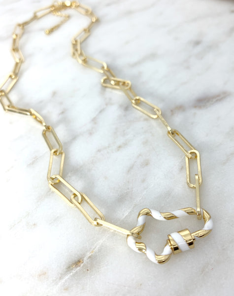 Paperclip Cross Necklace