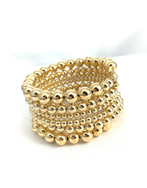 Gold beads Bracelet All-in-one
