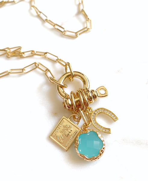 Multi-Charm Lock Necklace - Reliance