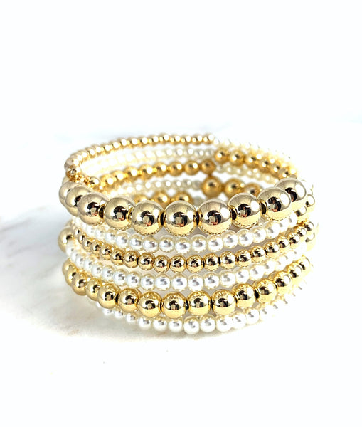 Gold and Pearls Bracelet All-in-one