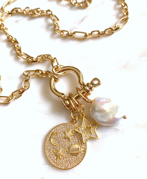 Multi-Charm Lock Necklace - Alchemy