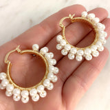 Lucia Pearls Hoops