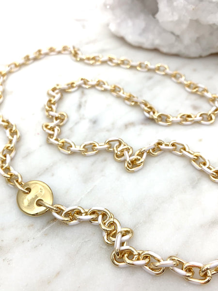 GG Necklace White/Gold