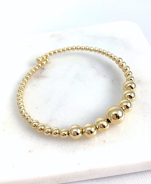 Gold Beads Adjustable Bracelet