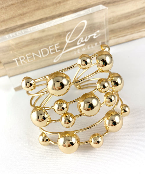 Gold Bubbles Cuff