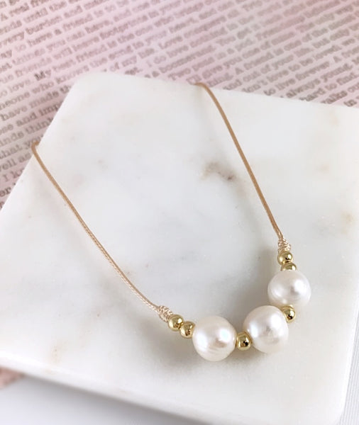 Adjustable Pearl Choker