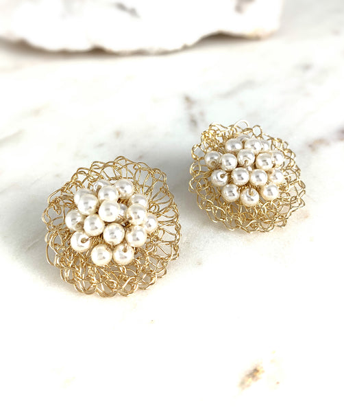 Dalia Pearl Earrings