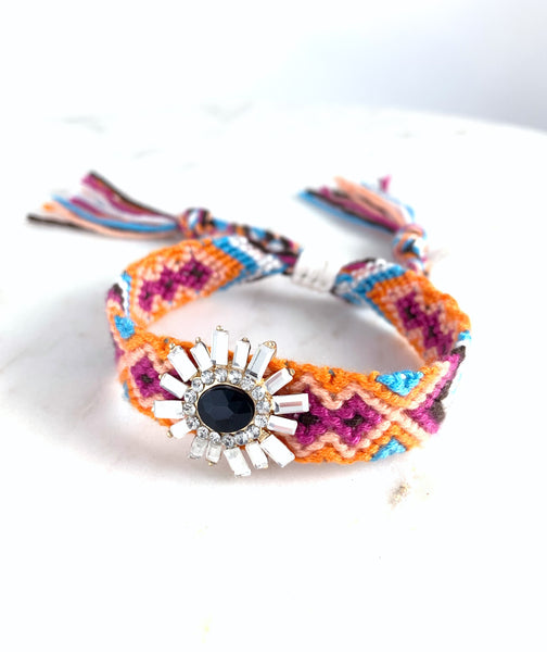 Friendship Bracelet - Mirror Flower