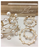 Circles with Pearls Earrings