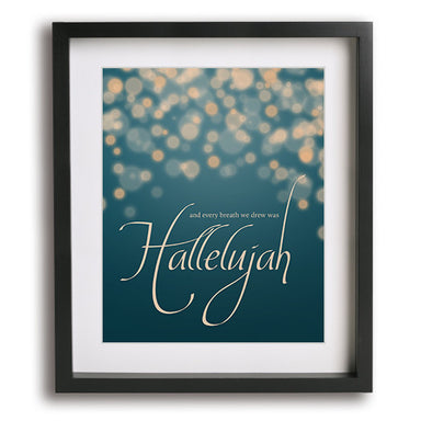 Hallelujah by Jeff Buckley song lyric art