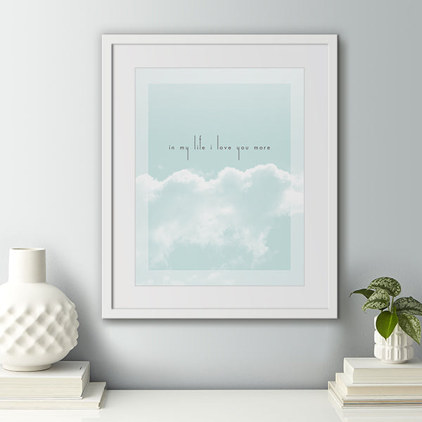 In My Life | The Beatles song lyric art by Lyrical Artworks