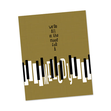 Piano Man lyric poster