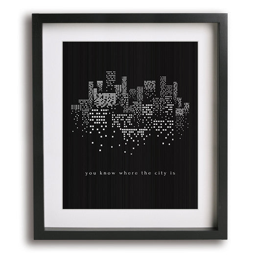 The City by The 1975 song lyric art
