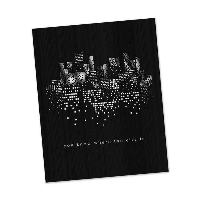 The City | The 1975 song lyric art by Lyrical Artworks
