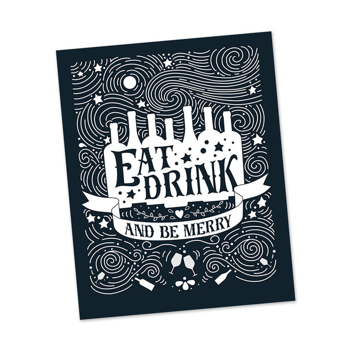 Eat Drink and Be Merry art print posters