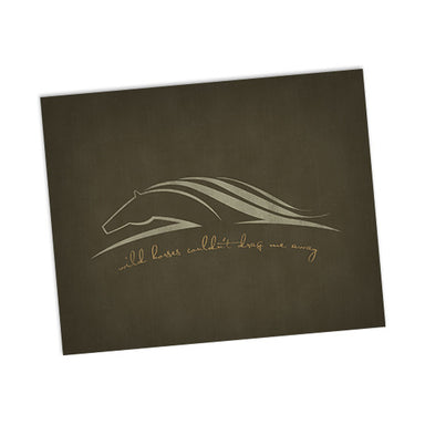 Wild Horses song lyric art