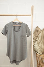 Load image into Gallery viewer, Ladies Tunic Tee - Light Grey