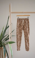 Load image into Gallery viewer, Youth Terry Lounge Pants | Leopard