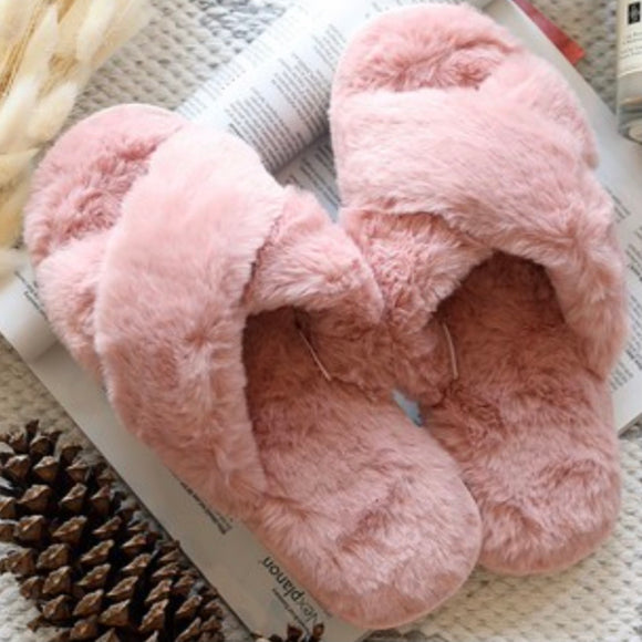 Fuzzy Slide Slipper