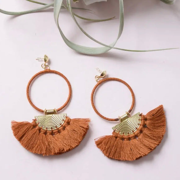 Bohemian Hoop Drop Earrings