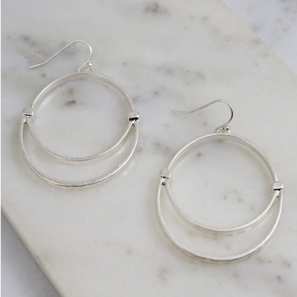 Round Fish Hook Earring