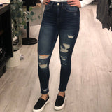 Flying Monkey Super High Rise Distressed Jeans