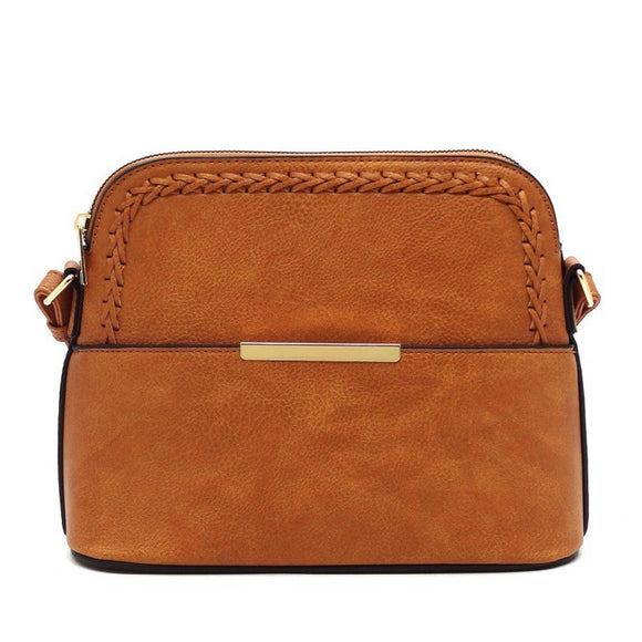 Cognac Dome Crossbody