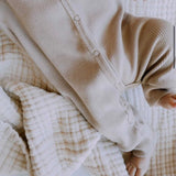 Ribbed Button Onesie