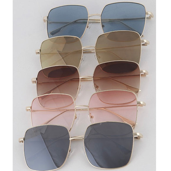 Gold Square Sunnies