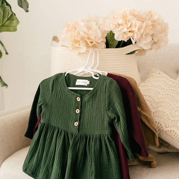 Emerald Cotton baby dress