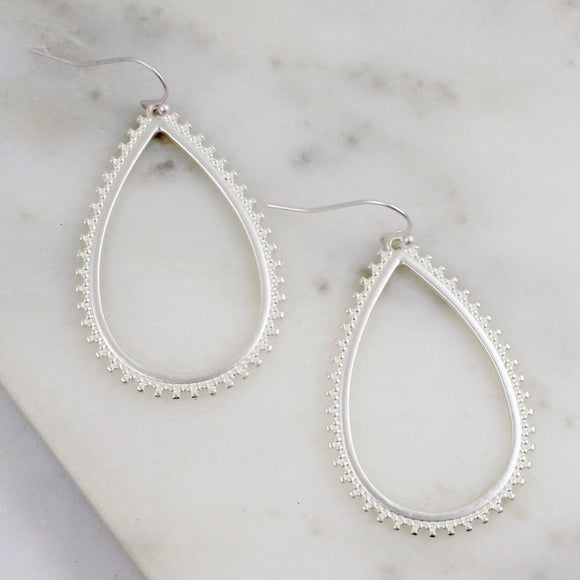 Teardrop Fish Hook Earring