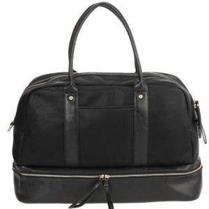 Vegan Leather Tote - Black
