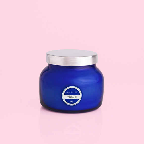 Volcano Blue Jar Candle