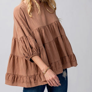 Baby Doll Balloon Sleeve Top