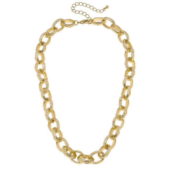 Worn Gold Chain Statement necklace.