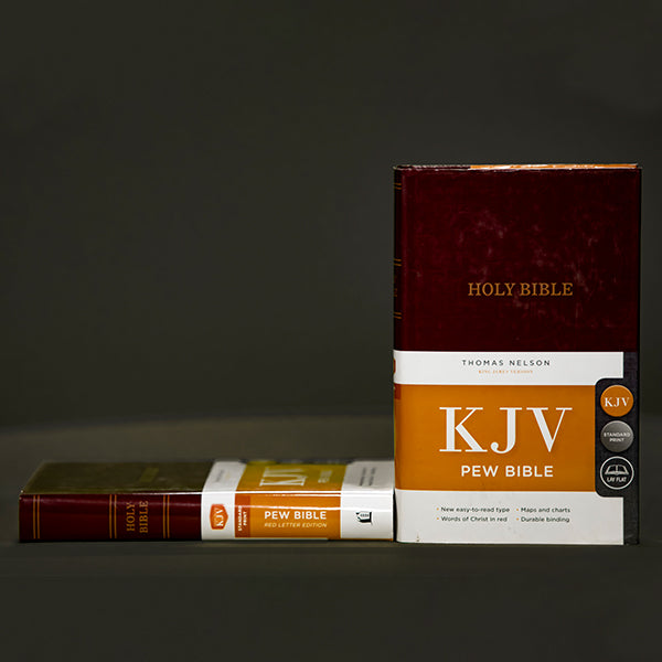 KJV - PEW Bible Burgundy HC
