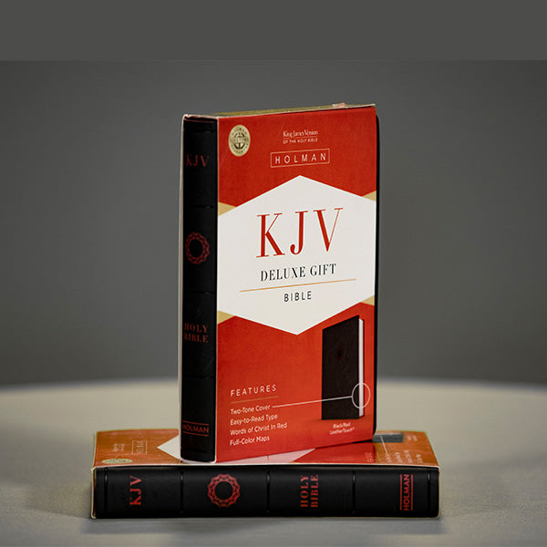 KJV - Deluxe Gift Bible - Black and Red LS