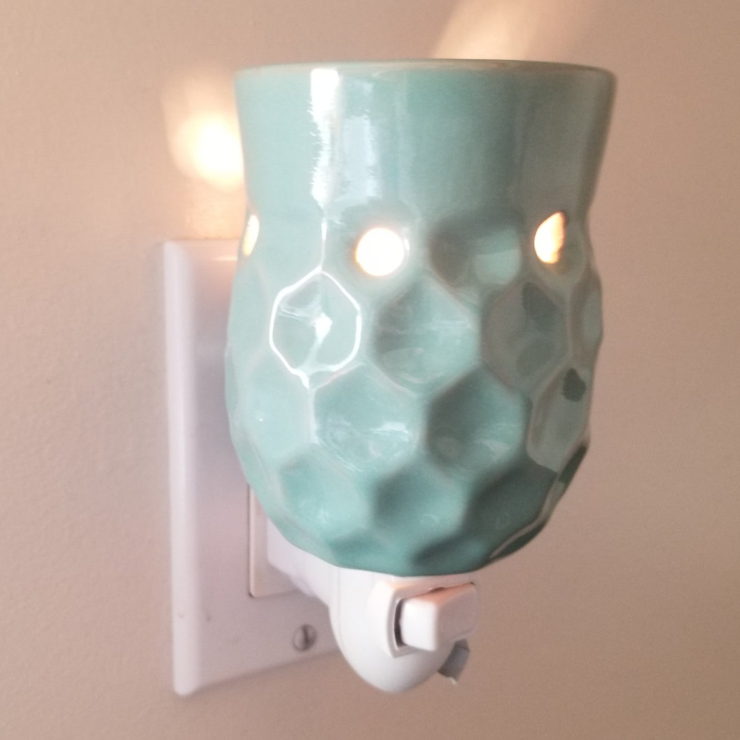 Pluggable Melt Warmer-Honey Comb Turquoise